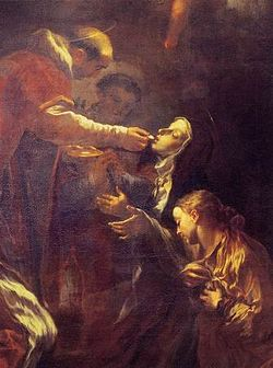 250px-Livio_Mehus_con_San_Pietro_d'Alcantara_che_comunica_santa_Teresa_d'Avila_(1683)