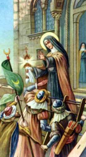 santa Chiara e i saraceni