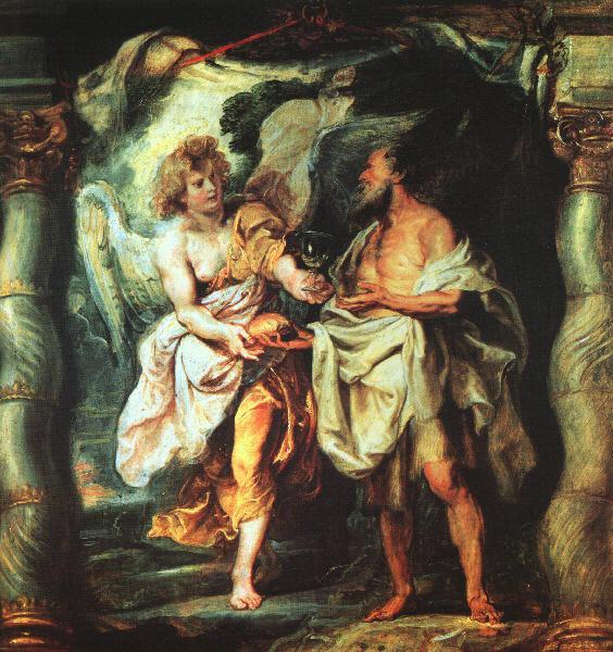 l'Angelo e il profeta Elia