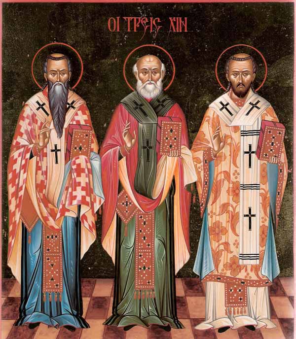 Basilio il Grande, Gregorio di Nazianzo e Giovanni Crisostomo