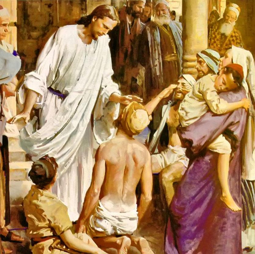 Gesù guarisce gli infermi