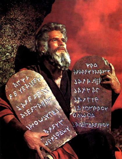 mosè e i 10 comandamenti
