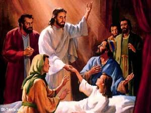 Gesù-guarisce donna
