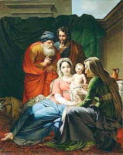sacra famiglia con gioacchino ed anna