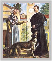 don bosco e il cane nero