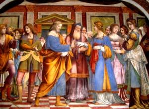nozze - Bernardino_Luini_Sposalizio-Vergine_Saronno