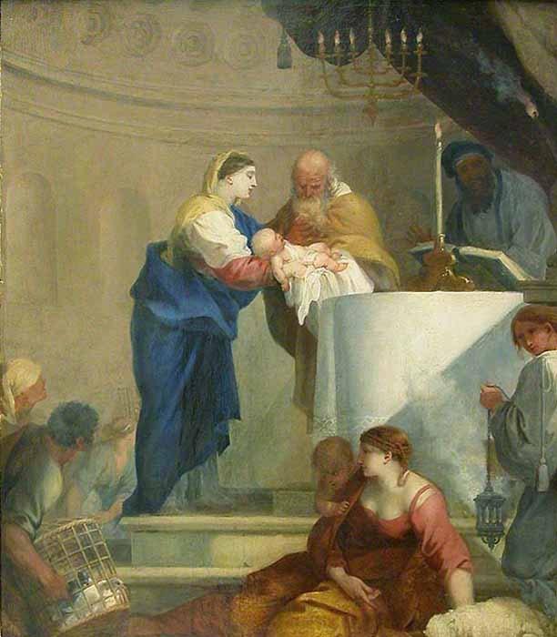 Sebastien Bourdon, Presentazione di Gesù al Tempio, 1644 circa, Musèe du Luvre, Parigi