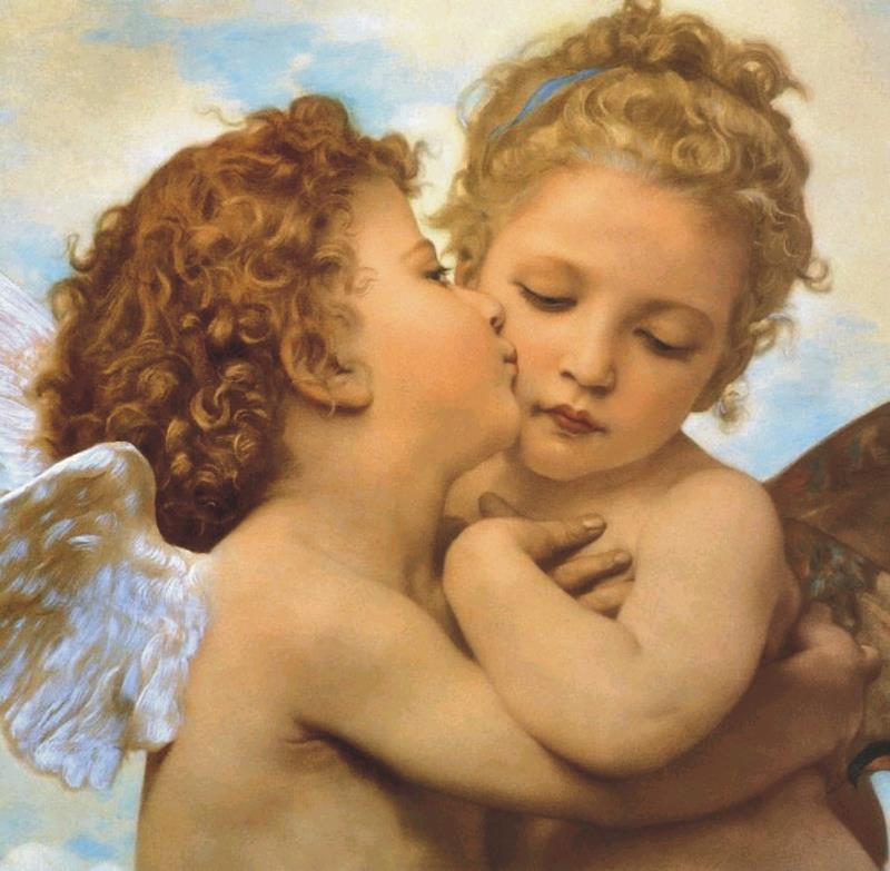 angeli bacio