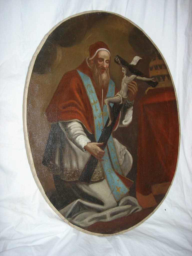 tela-raffigurante--Papa-Celestino-V-olio-su-tela-ovale.