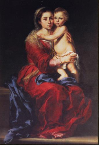 gesù - Madonna-del-Rosario-(Prado)_MURILLO