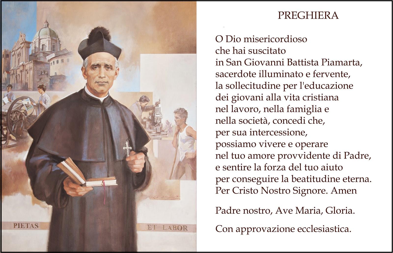 San Giovanni Battista Piamarta Preghiera