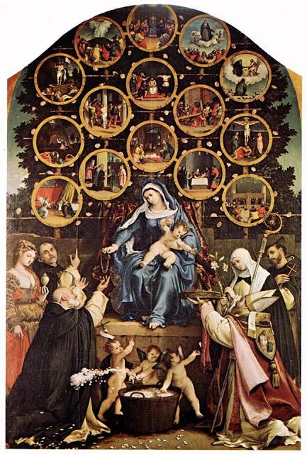 3madonna del rosario di pompe-Lorenzo Lotto