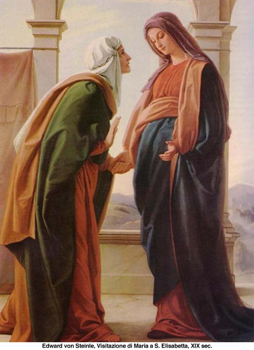 Risultati immagini per visitazione di maria a elisabetta