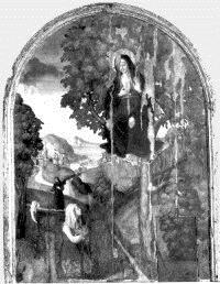Madonna della noce. dipinto originale