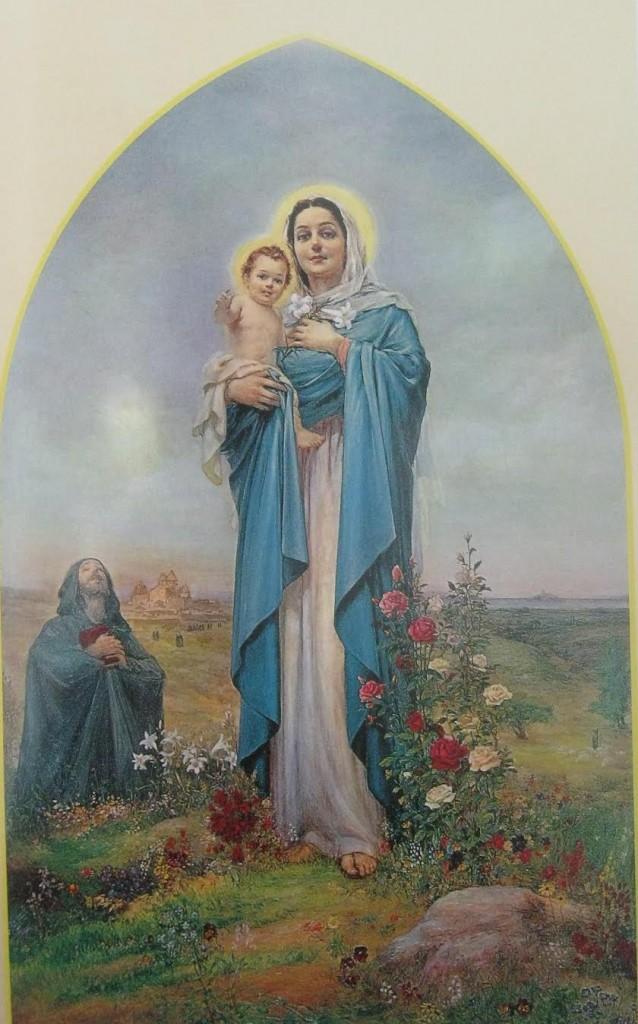 Santa Madre di Narek- Egli ha dipinto temi che riflettono la storia armena