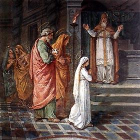 maria bambina al tempio