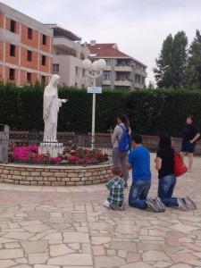 preghiera di una famiglia