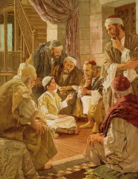 tempio con maestri e dottori