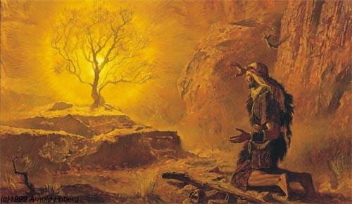 Mose e il roveto ardente