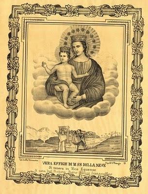 vera effige della Madonna della Neve