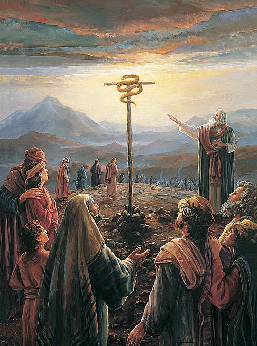 Moses e il serpente di bronzo