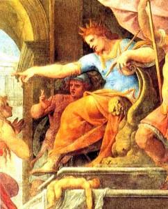 Salomone il giudizio del Pomarancio