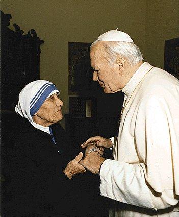 madre teresa e giovanni paolo II