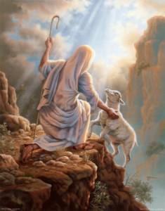 pastore pecora ritrovata