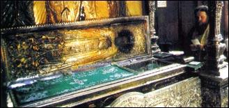 urna di san Sergio Radonez nel monastero della Trinità a Zagorsk