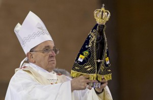 Brasile, Papa arrivato ad Aparecida
