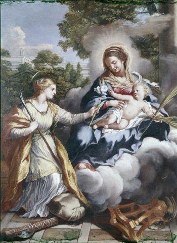 santa Martina e la Vergine con Bambino Gesù