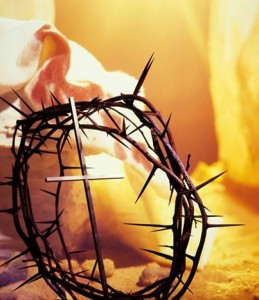 croce e corona di spine