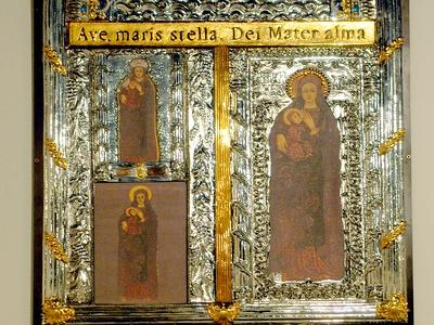 targa della Madonna di Capo Colonna per la chiesetta omonima