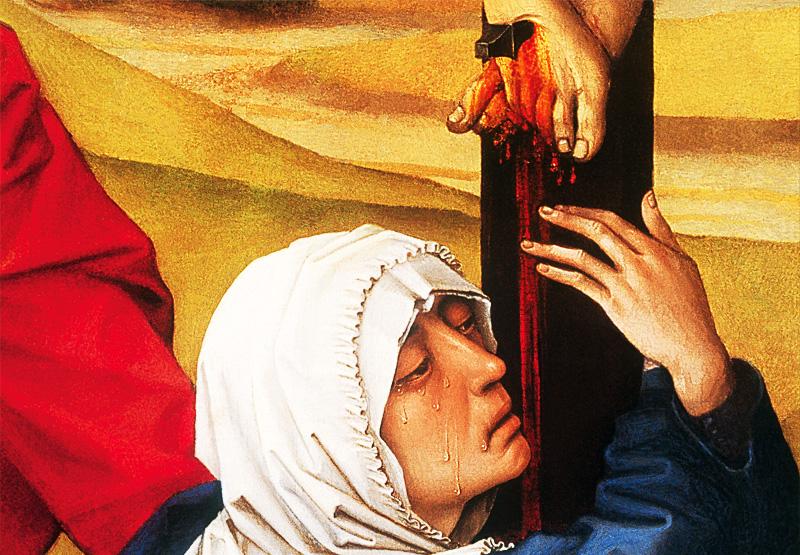 Risultati immagini per gesù in croce e ai suoi piedi la madre e l'apostolo Giovanni