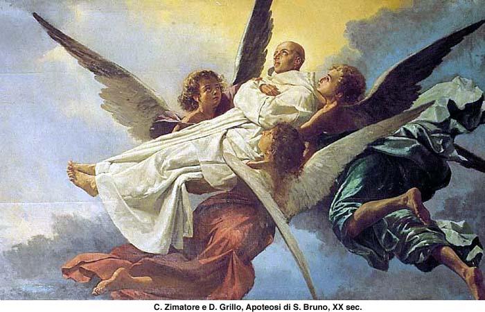 San Bruno scortato in Paradiso dagli Angeli
