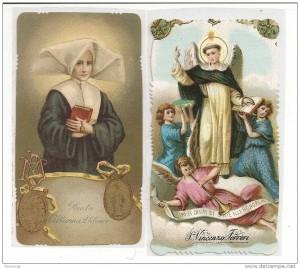 santa caterina Laborè e san Vincenzo