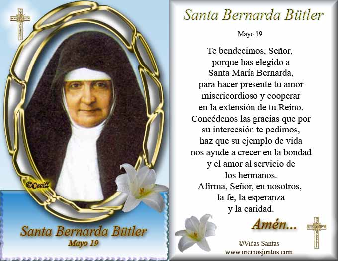 SantaBernardaButler-1- preghiera