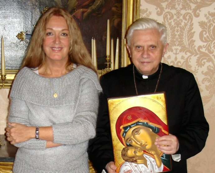 Vassula Ryden in udienza dall'allora cardinale Joseph Ratzinger
