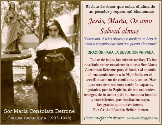 SERVA DI DIO M. CONSOLATA BETRONE preghiera