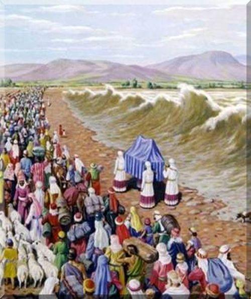 arca dell'alleanza- i sacerdoti aprono le acque del giordano