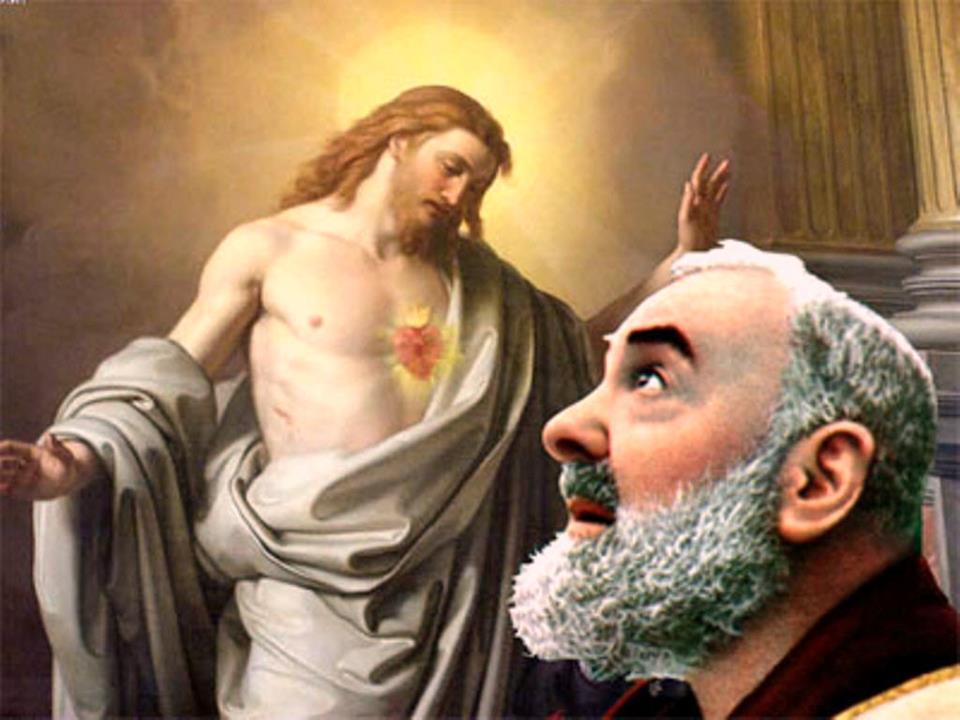 padre pio e il cuore di Gesù