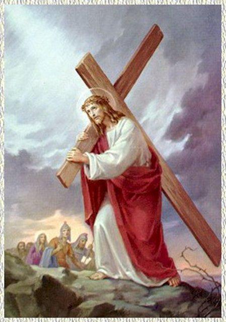 Gesù caricato della croce