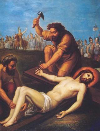 Gesù inchiodato alla croce