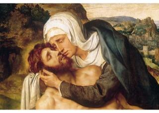 maria riceve il corpo di gesù