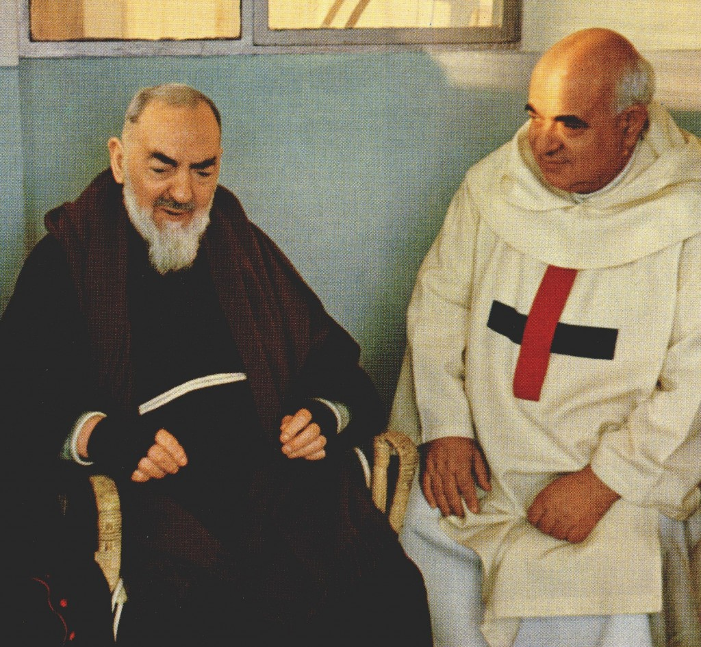 sacerdote-Padre-Pio-with-Father-Michael-Nardone-Minister-General-of-the-Trinitarian-Order