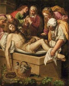 Lattanzio, Deposizione di Cristo nel sepolcro