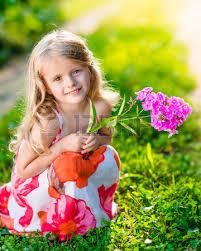 bambina fiori