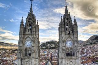 torri della cattedrale di quito