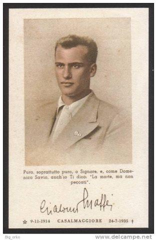 Giacomo Maffei Giovane ex-allievo salesiano