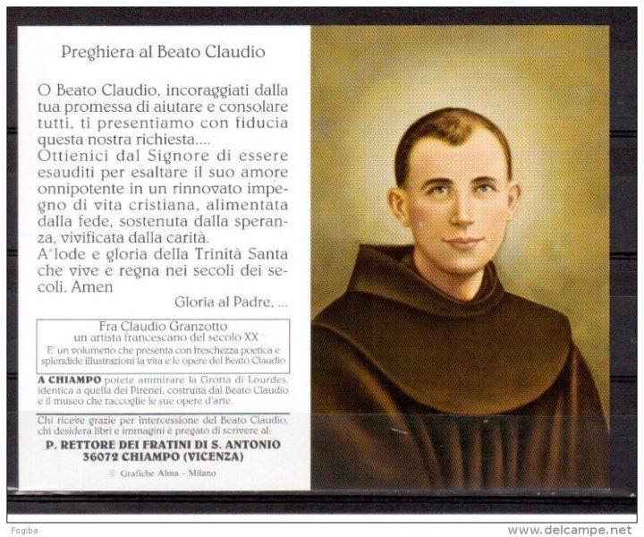 Beato Claudio Granzotto preghiera
